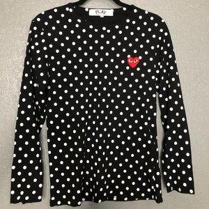 PLAY Comme des Garçons long sleeve polka dot shirt